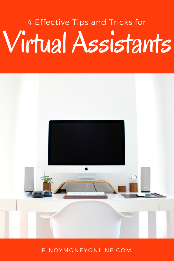 Learn 4 tips and tricks to make money online as virtual assistant