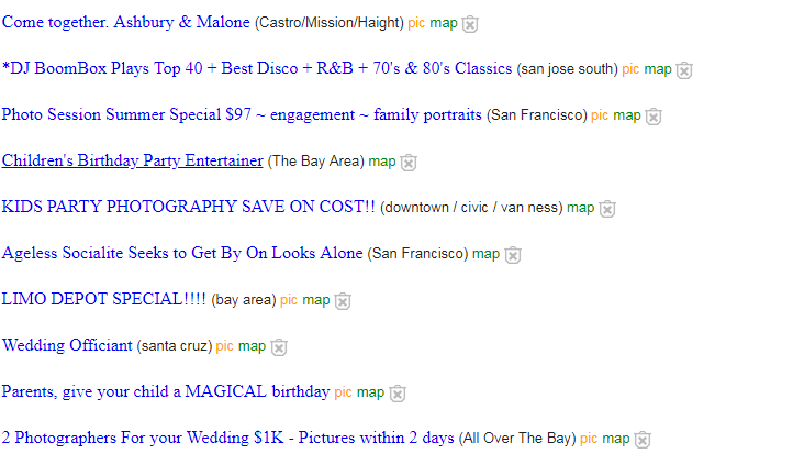 You can find or offer your gigs on Craigslist to make money