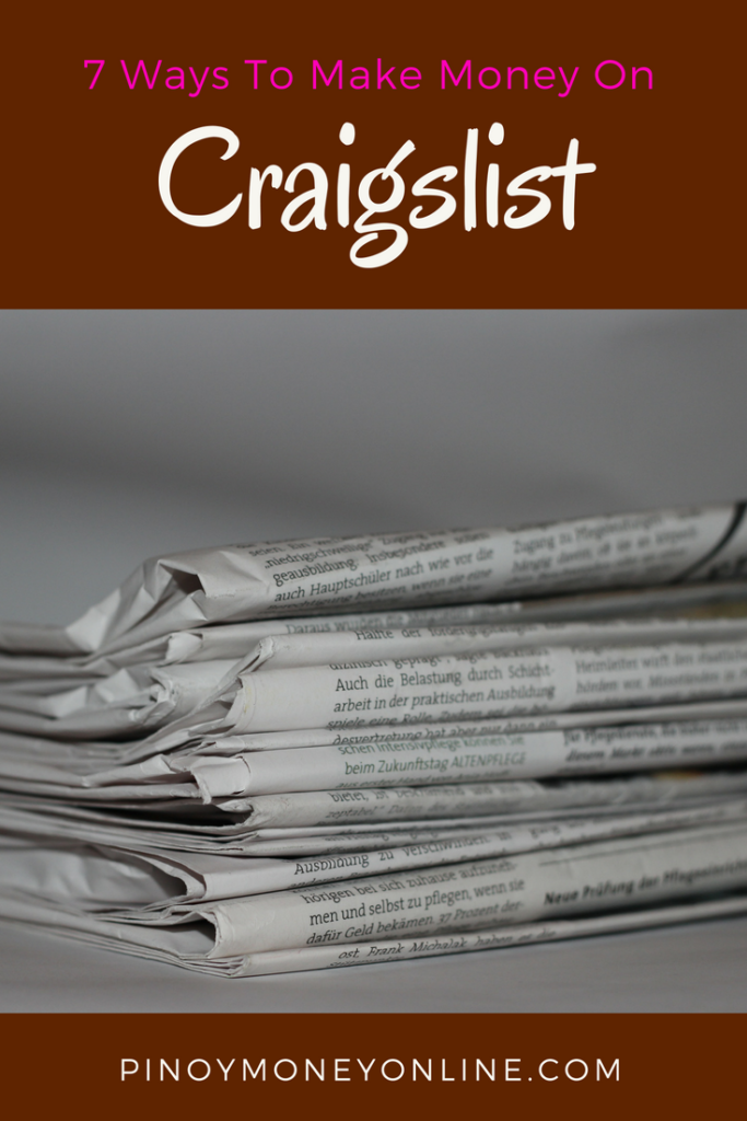 7 ways to make money online on Craigslist