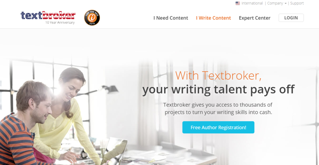 Make Money online by submitting your articles on textbroker