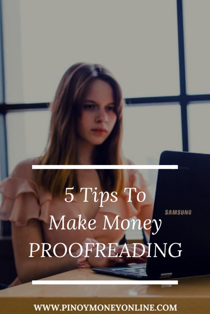 Make money online proofreading